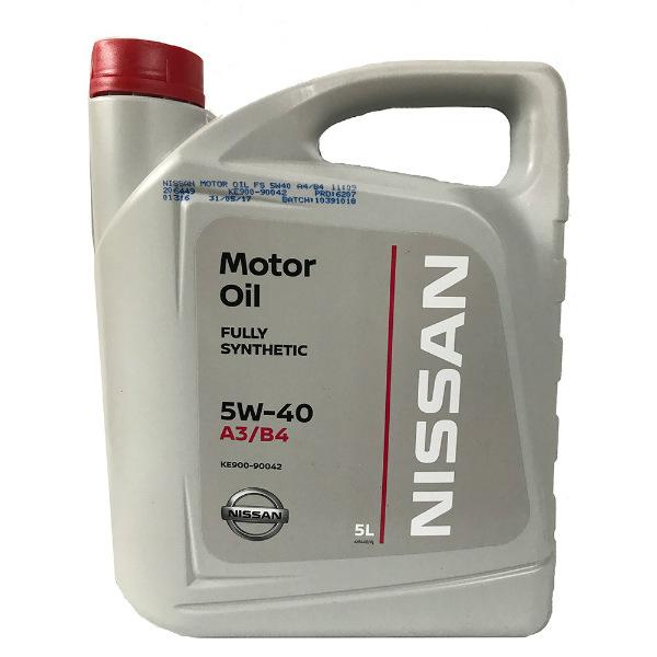 Моторное масло Nissan 5W-40
