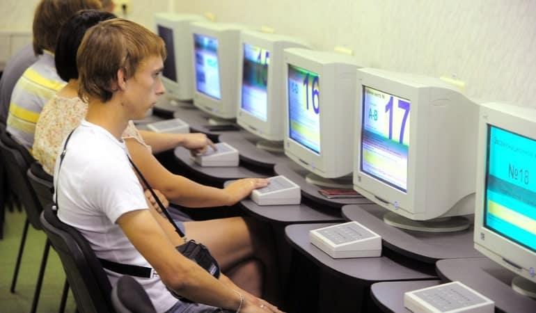 экзамен на права на компьютере в классе
